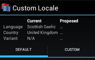 Custom Locale
